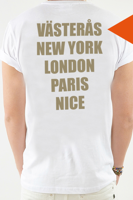 T-shirt Vit, Cities - 1759