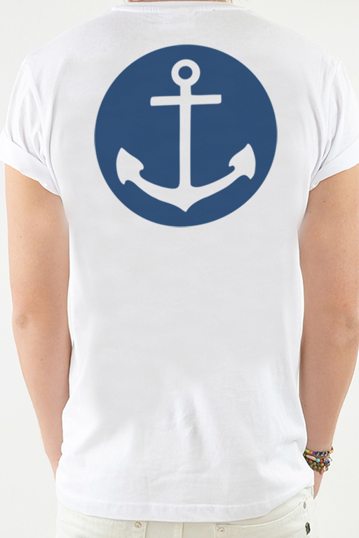 T-shirt Vit, Anchor - 1790