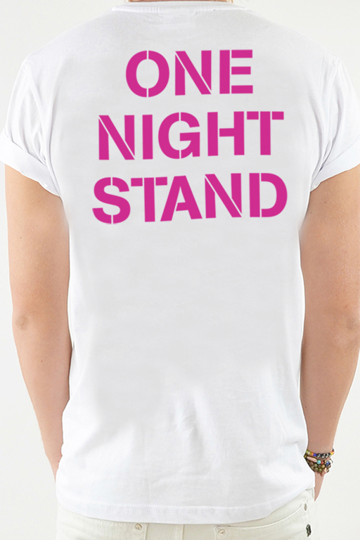T-shirt Vit, One Night - 1796
