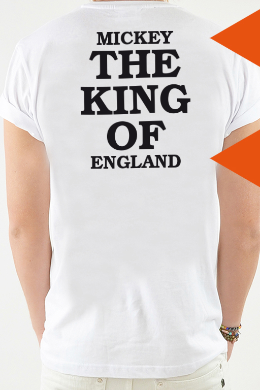 T-Shirt Vit, The King - 2058