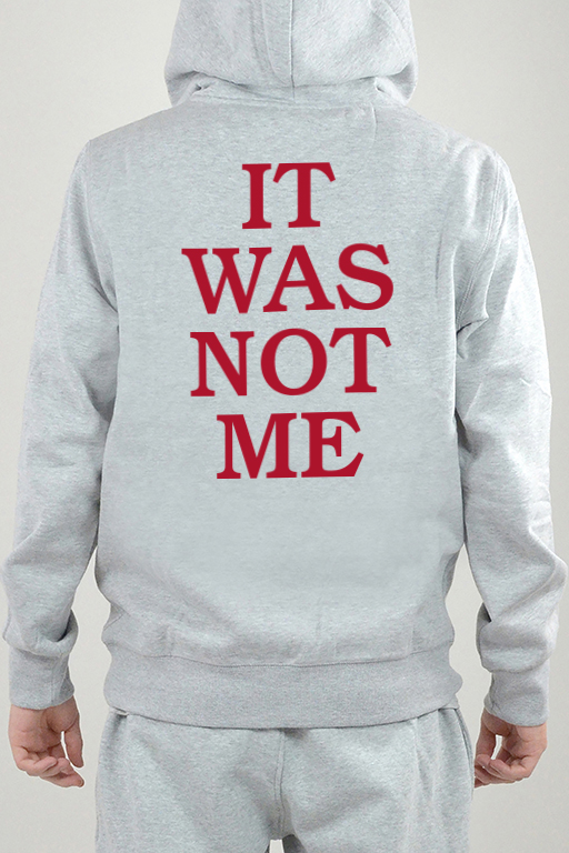 Hoodie Grå, It Was Not - 2413