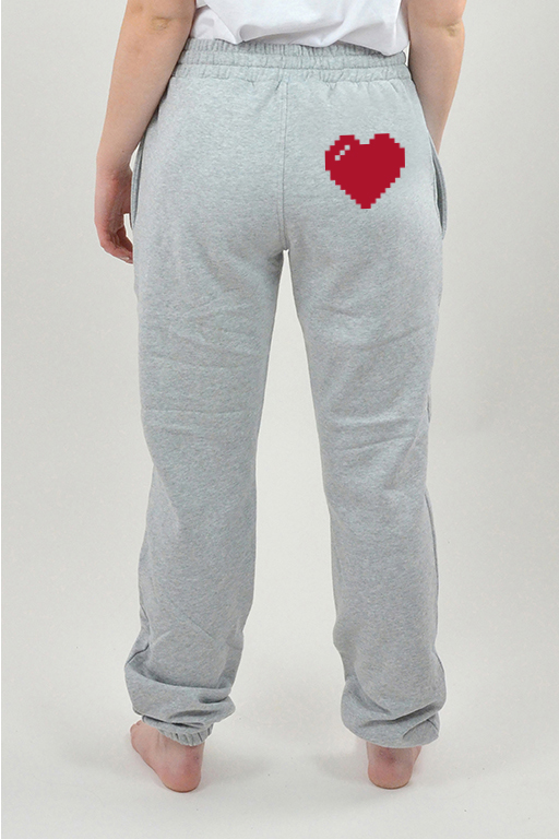 Sweatpants Grå, Heart - 3022