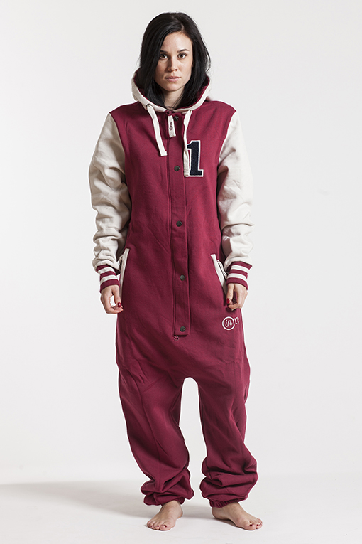 College - Red, Jumpsuit - 4234