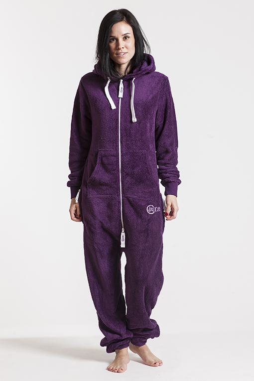 Fleece - Purple, Jumpsuit - 4314