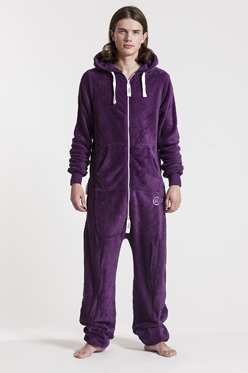 Fleece - Purple, Jumpsuit - 4322