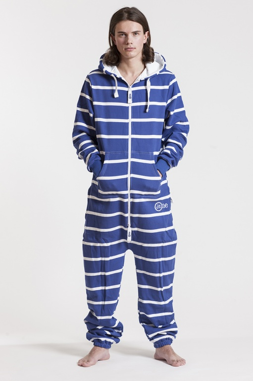Striped - Blue, Jumpsuit - 4343