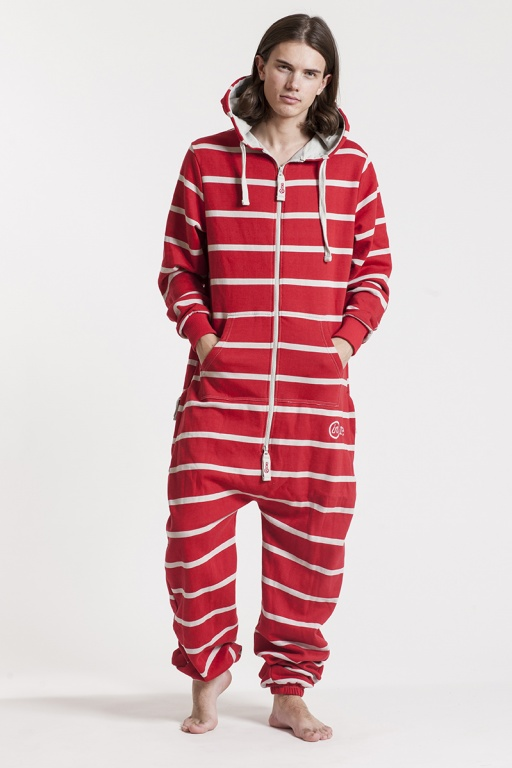 Striped - Red, Jumpsuit - 4351