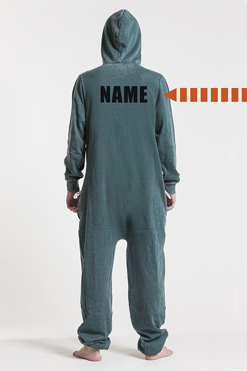 Burned Green, Ryggtryck, Jumpsuit - 4492