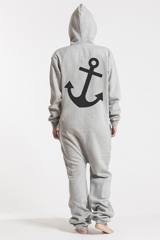 Comfy Grey, Anchor, Jumpsuit - 4945