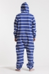 Striped - Blue, Jumpsuit - 4344