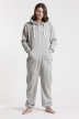 Comfy Grey, Ryggtryck, One Piece Jumpsuit - 4461