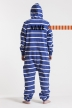 Striped Blue, Ryggtryck, Jumpsuit - 4466