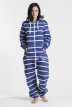 Striped Blue, Ryggtryck, Jumpsuit - 4467