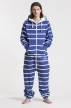 Striped Blue, Ryggtryck, Jumpsuit - 4470
