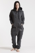 Comfy Dark Grey & Silver, College 01, Jumpsuit - 4835