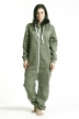 Comfy Armygreen, Heart, Jumpsuit - 4875