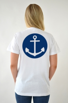 T-shirt Vit, Anchor - 1649