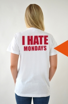 T-shirt Vit, I Hate - 1715