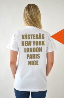 T-shirt Vit, Cities - 1730