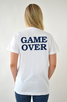 T-Shirt Vit, Game Over - 1954