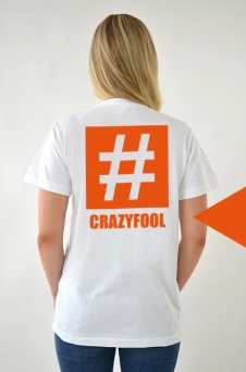 T-Shirt Vit, Crazyfool - 1985
