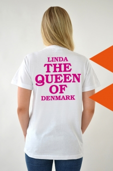 T-Shirt Vit, The Queen - 2035