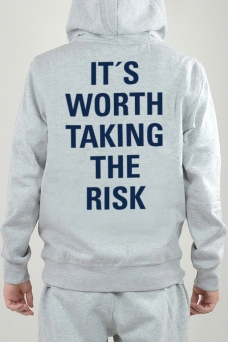 Hoodie Grå, It´s Worth - 2400
