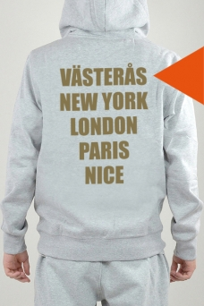 hoodie med eget tryck