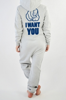 Comfy Grey, I Want You, Jumpsuit - 2974