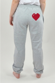 Sweatpants Grå, Heart - 3018