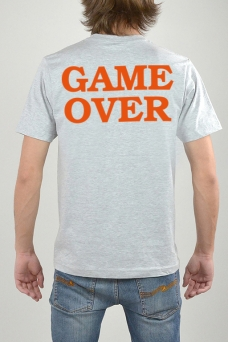 T-Shirt Grå, Game Over - 3154