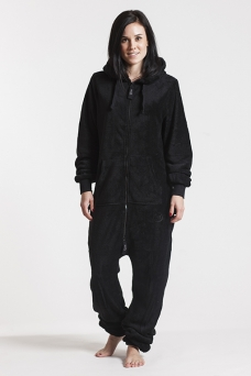 Fleece - Black, Jumpsuit - 4306