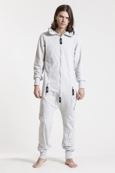 Slimfit - Grey & Navy, Jumpsuit - 4327