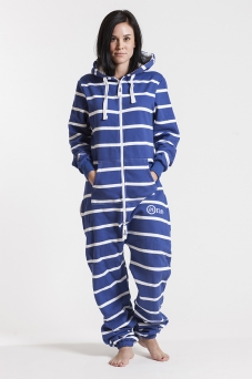 Striped - Blue, Jumpsuit - 4339