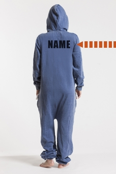 Burned Blue, Ryggtryck, Onesie Jumpsuit - 4483