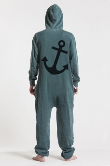 Burned Green, Anchor, Jumpsuit - 4930