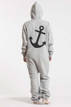 Comfy Grey, Anchor, Jumpsuit - 4946