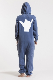 Burned Blue, Hang loose, Onesie Jumpsuit - 5657