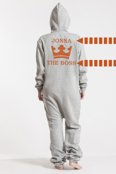 Comfy Grey & Silver, The Boss, Jumpsuit - 6082